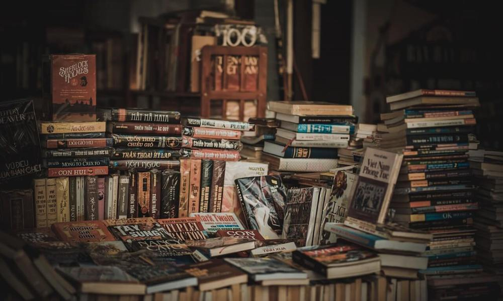 pile of second hand books