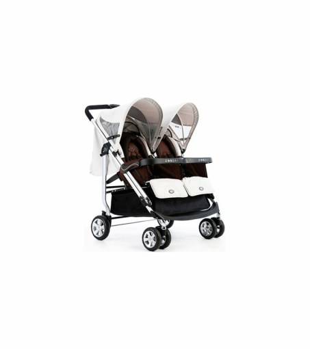Zooper SL808G Everyday Tango Double Stroller in Coconut Waves