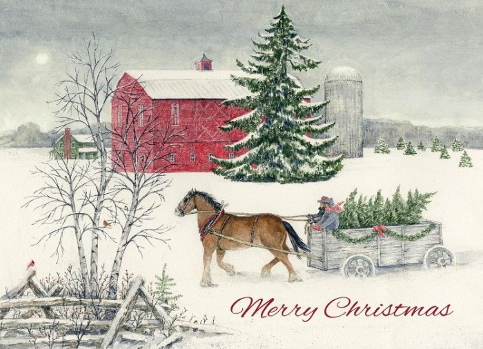 2018 Legacy Boxed Christmas Cards Christmas Wagon