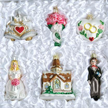 Old World Glass Ornaments Wedding Collection FREE