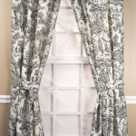 Victoria Park Toile Tailored Curtain Panel Pairs With Ties