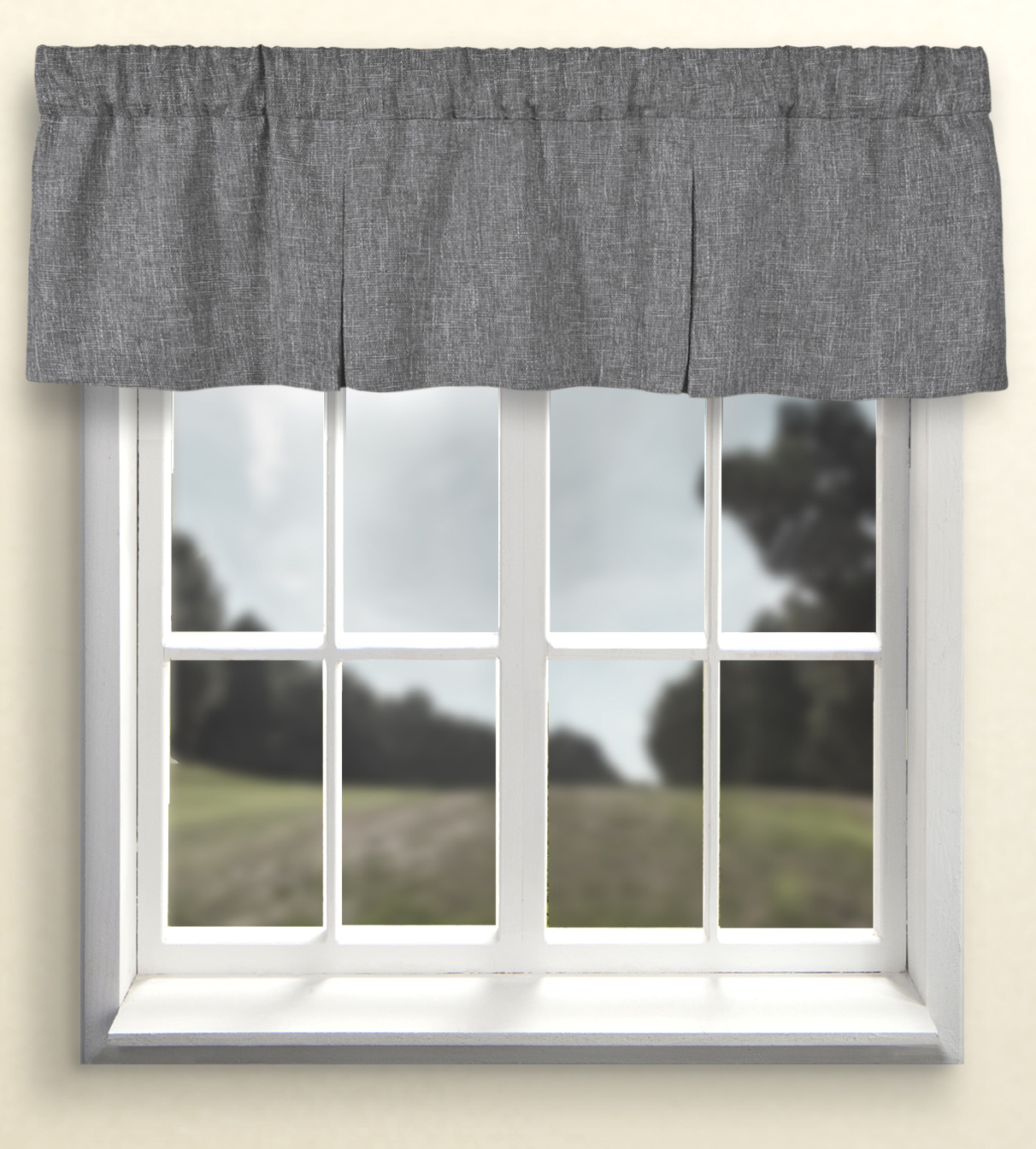 Pleated Valances Patterned Solid Colored