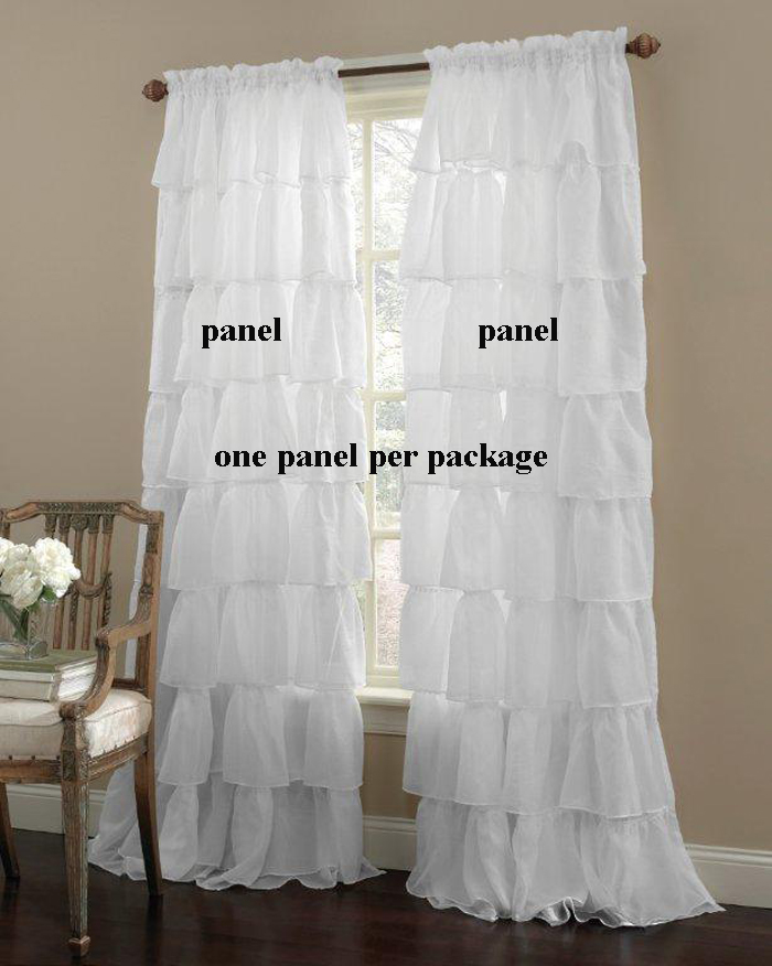country ruffled curtain sets