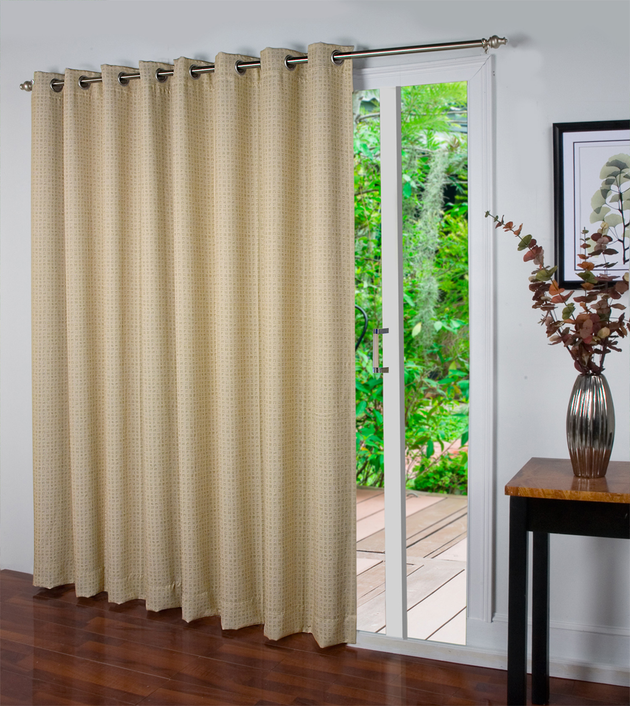 spanish steps insulated grommet patio panel sold out