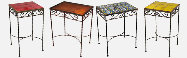 wrought iron side tables mexican