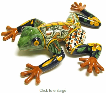 Medium Talavera Frog Free Shipping