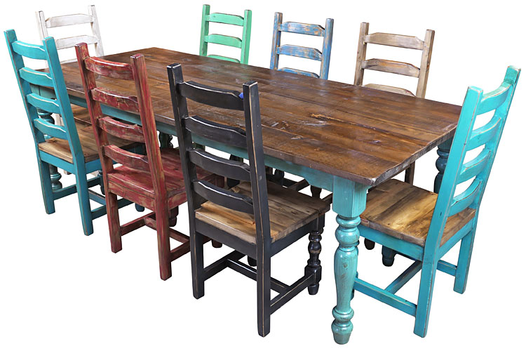 8 ft mexican colonial turquoise