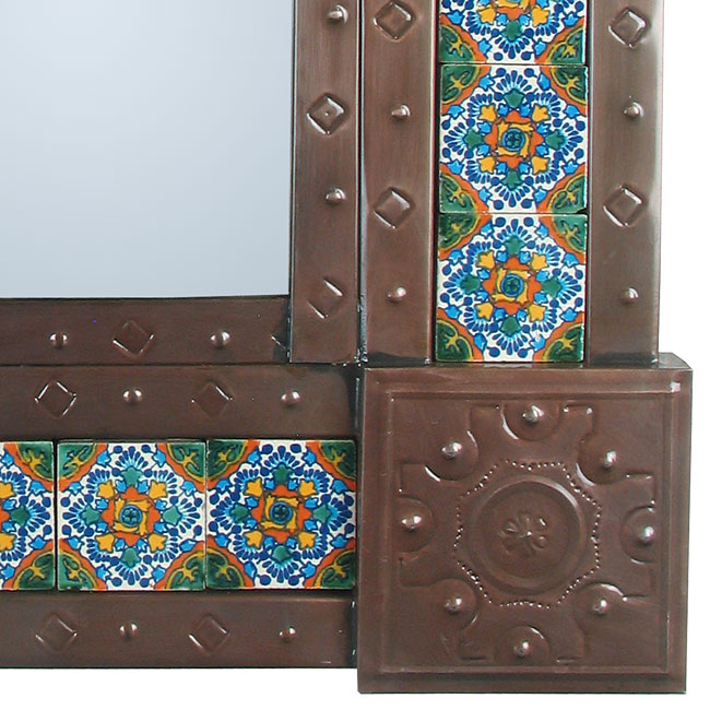 mexican punched tin talavera tile