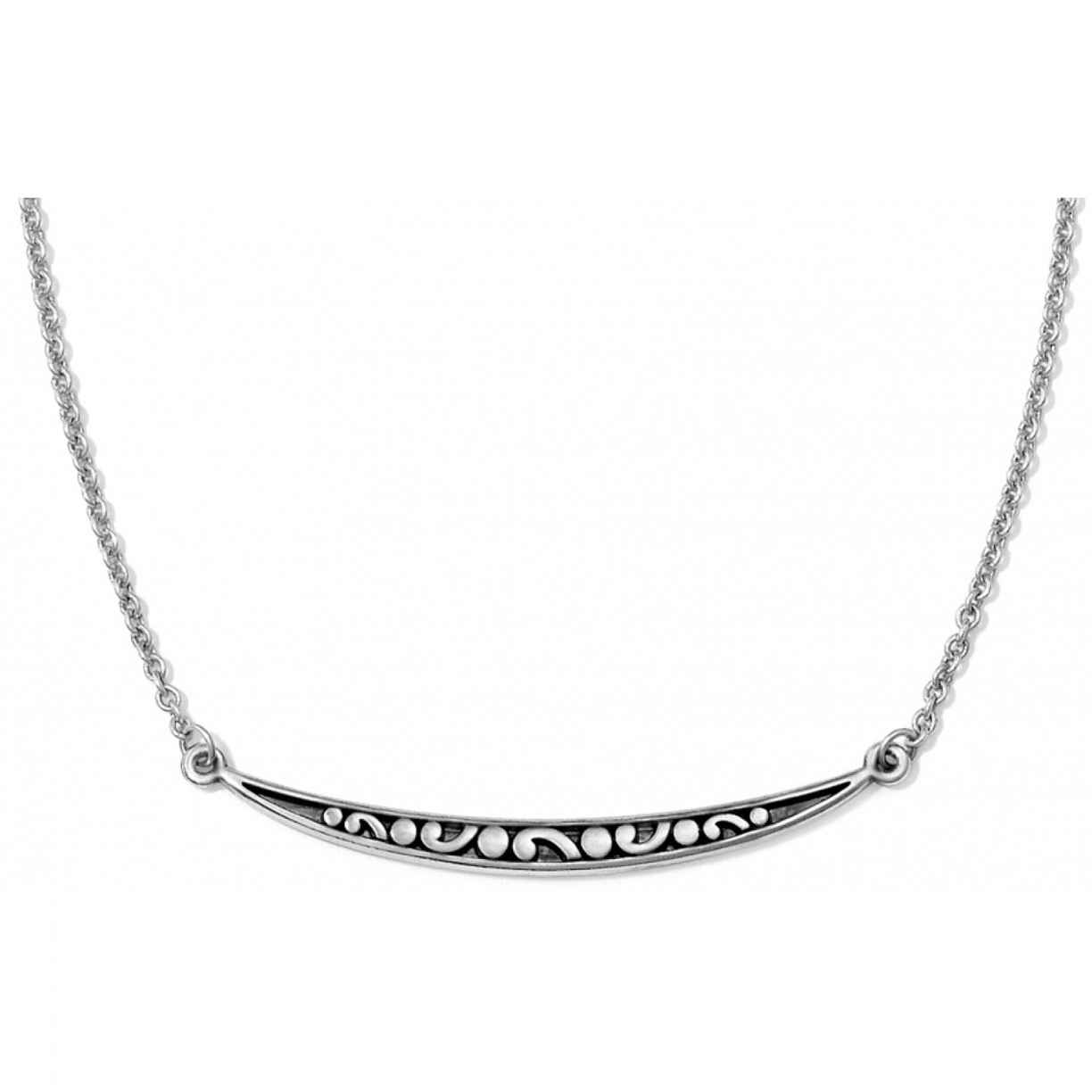 Brighton Silver Contempo Ice Reversible Necklace