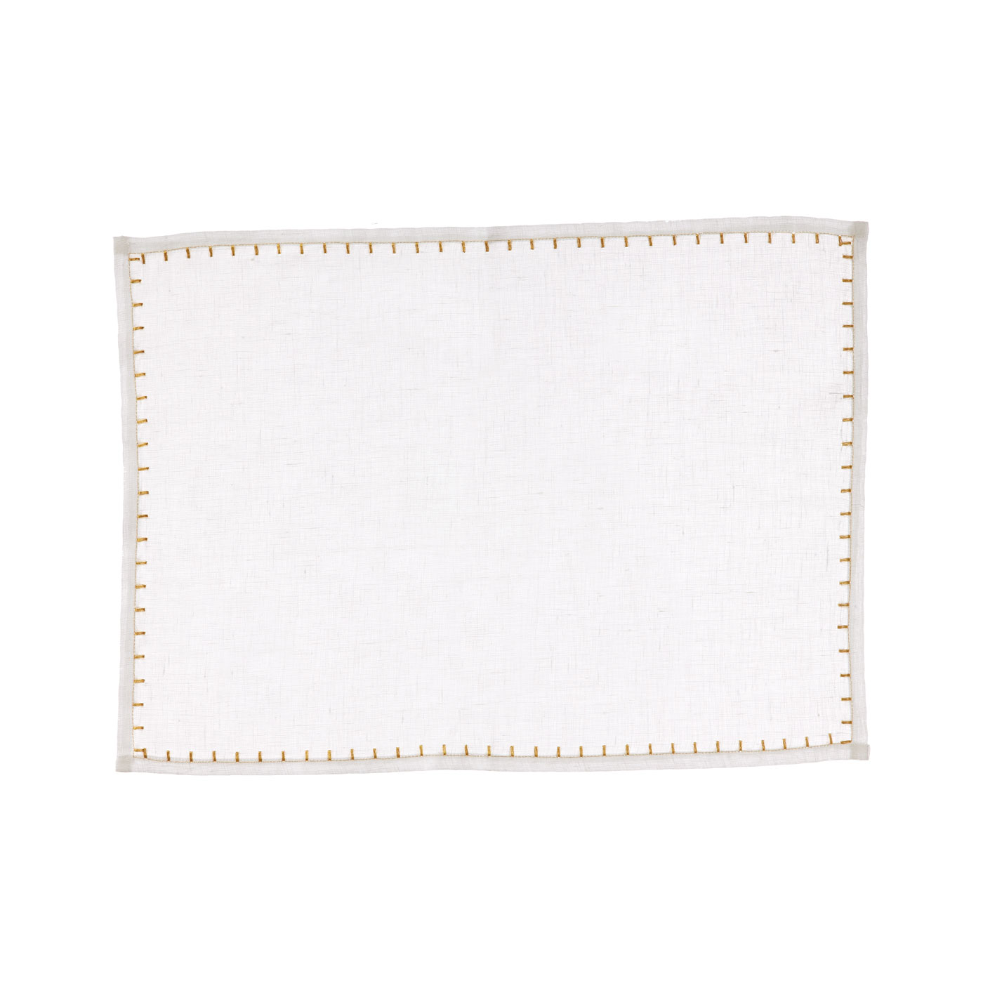 Vietri Whipstitch White With Gold Placemat 13 You Save 9 00