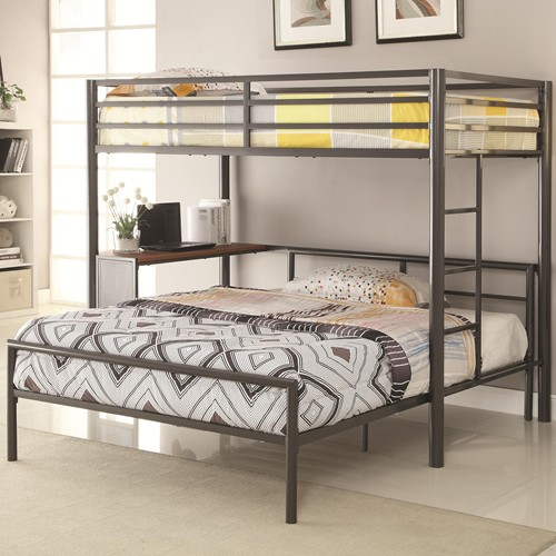 Bunks Twin Metal Workstation Loft Bed With Full