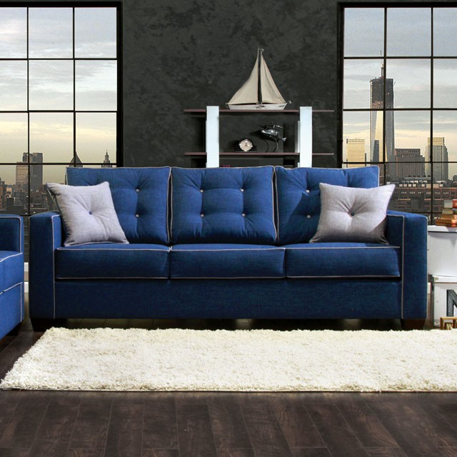 Contemporary Sofa Tufted Cushion On Sale Living Room