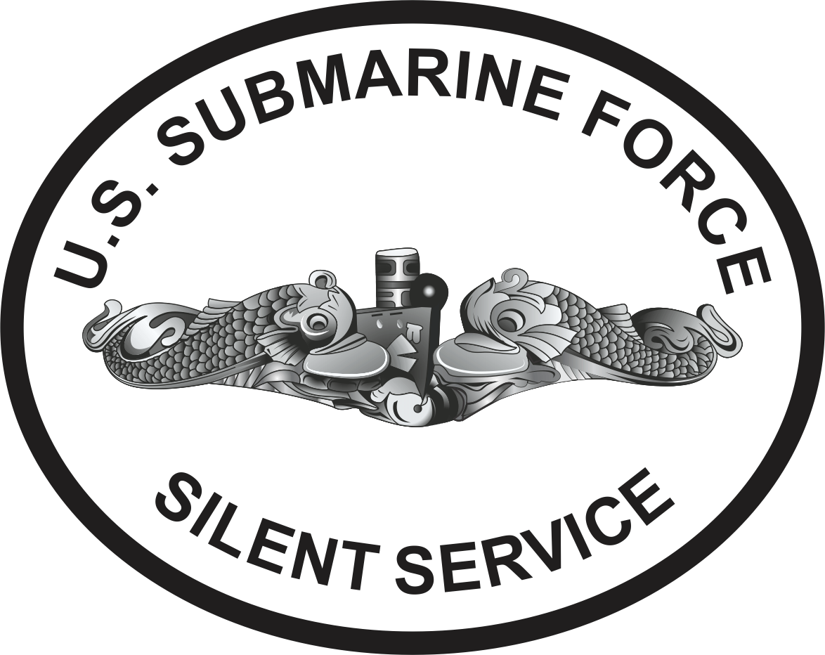 Submarine Force Silent Service Round Decal
