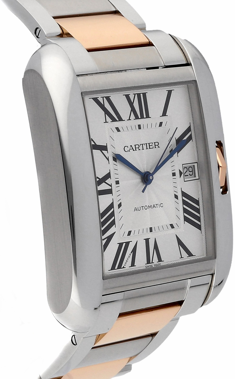 New Cartier XL Tank Anglaise W5310006 Watch 18K Pink Gold and Steel         Cartier Tank Anglaise W5310006   image 1