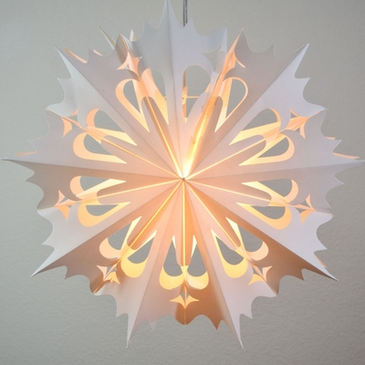 20 White Winter Angel Snowflake Paper Star Lantern
