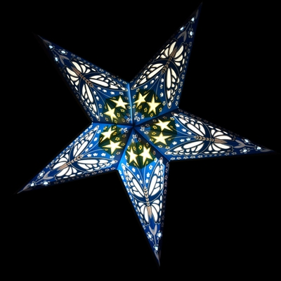 24 Blue Butterfly Paper Star Lantern Hanging Light Not Included On Sale Now Paper Star