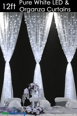 LED Organza Curtain Panel 288 Lights 12 Long Wedding And Event Backdrops