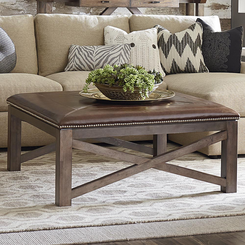 compass square ottoman cocktail table
