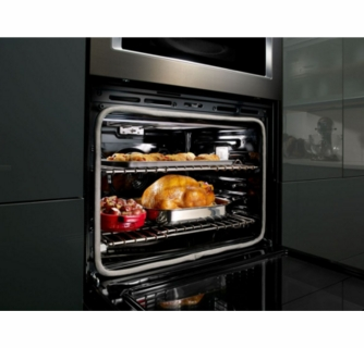koce500ebs kitchenaid 30 even heat true convection combination wall oven with built in microwave and satinglide extension rack black stainless