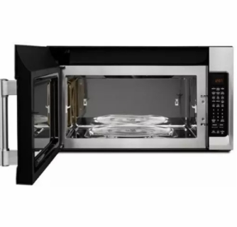 mmv6190fz maytag 30 1 9 cu ft capacity over the range microwave oven with 1000 cooking watts and interior cooking rack fingerprint resistant