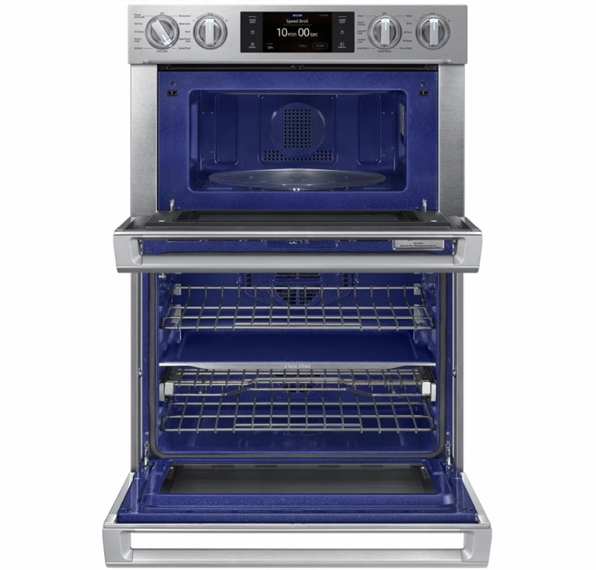 nq70m7770ds samsung 30 microwave combination wall oven with flex duo stainless steel