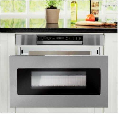 smd2470asy sharp 24 microwave drawer oven with hidden control panel stainless steel