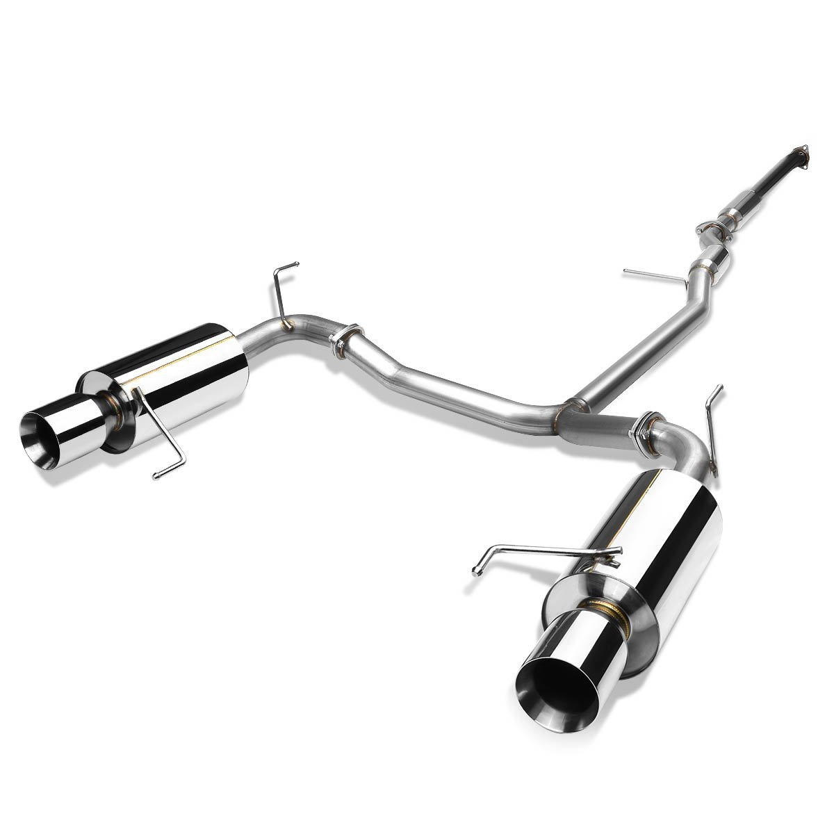 98 02 Honda Accord V6 Dual Exit S S Catback Exhaust Rolled Tip