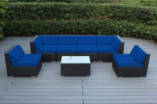 Beautiful Outdoor Patio Wicker Furniture Deep Seating 7pc Couch Set New Click to Enlarge