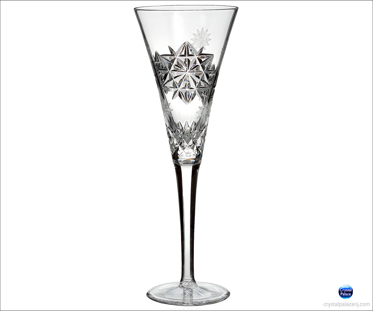 Waterford Snowflake Wishes Friendship Flute Clear