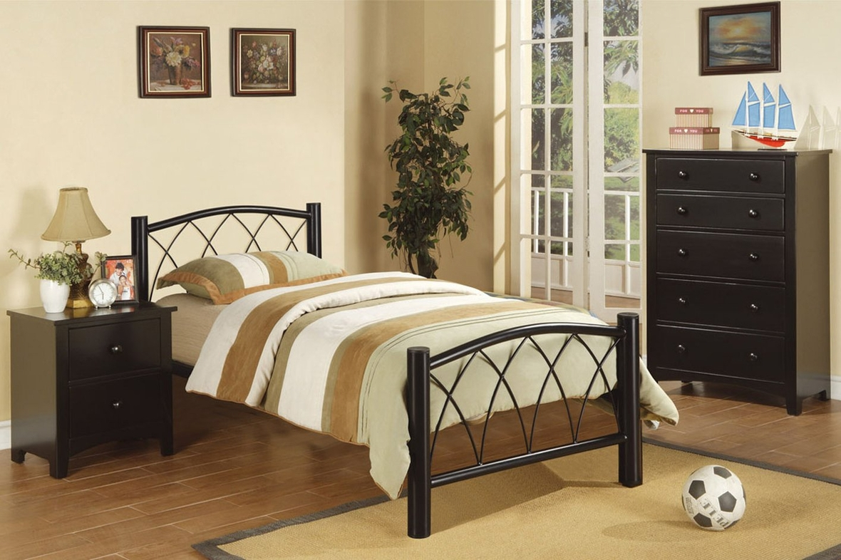 Black Metal Twin Size Bed Steal A Sofa Furniture Outlet