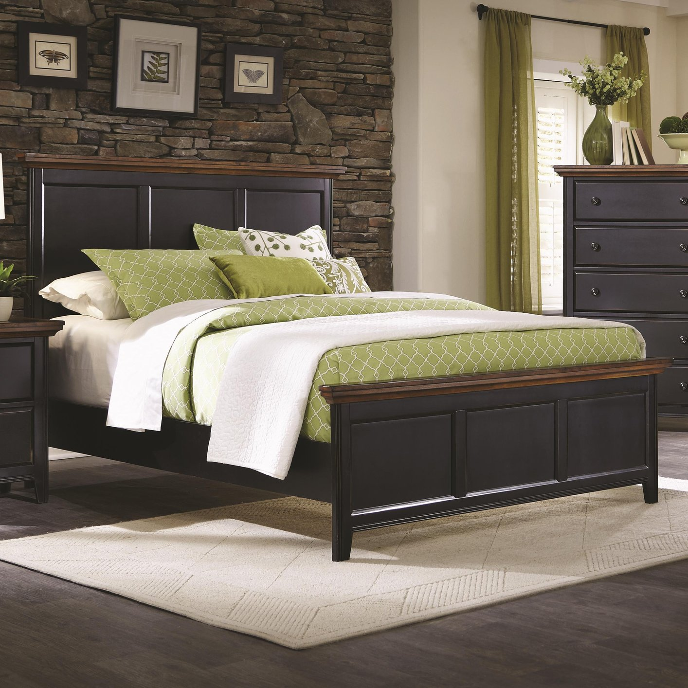 Brown Wood Full Size Bed