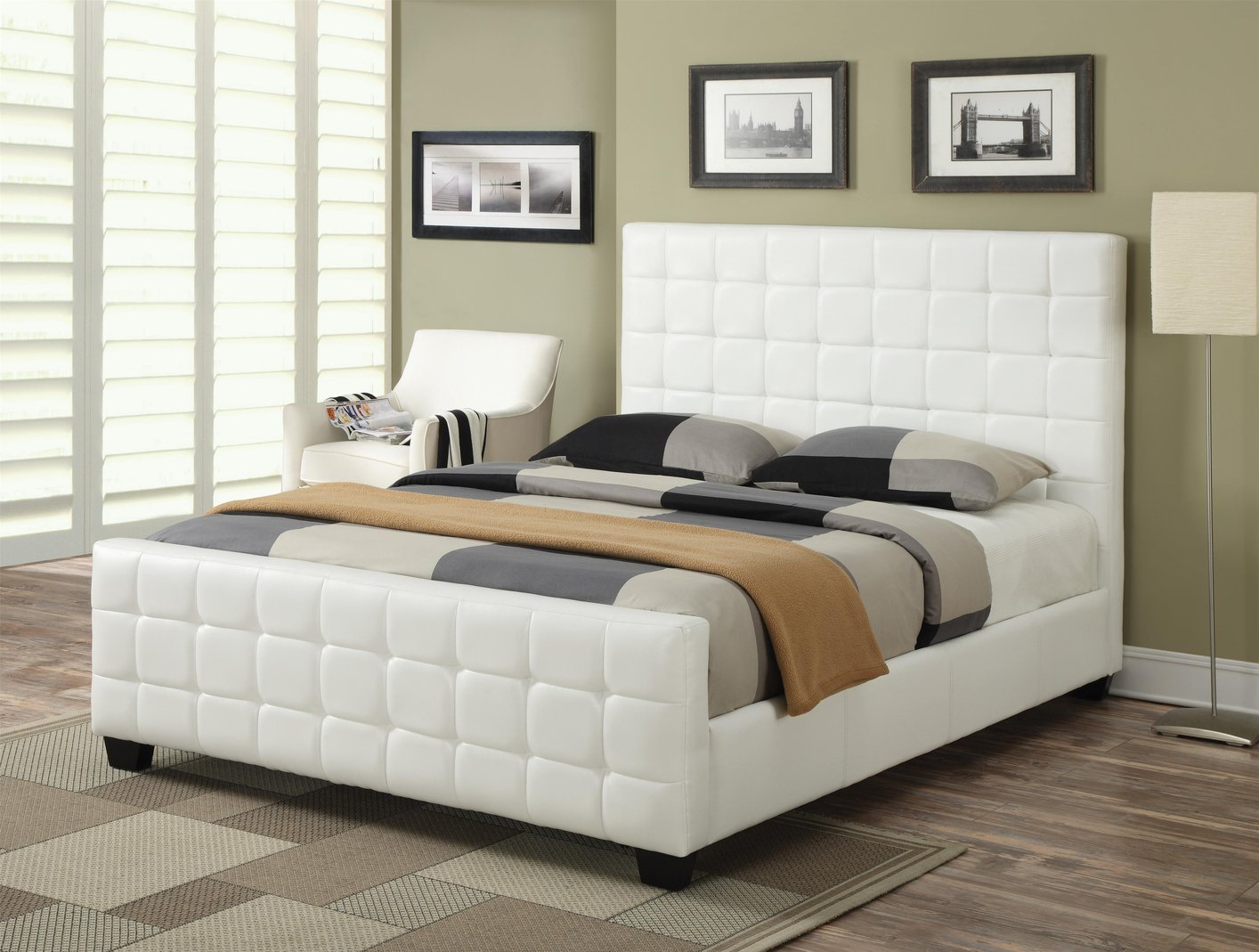 White Wood Full Size Bed Steal A Sofa Furniture Outlet