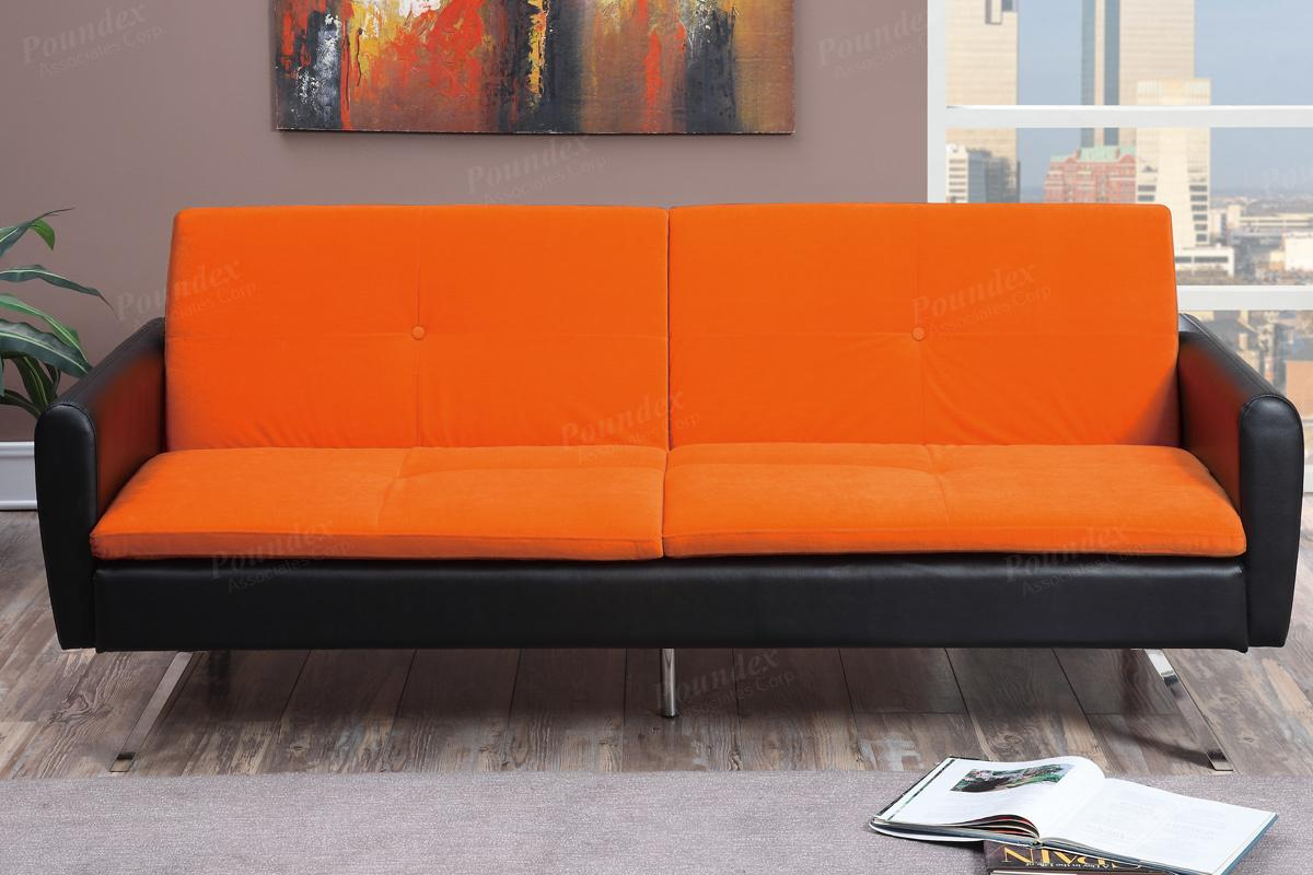 Orange Leather Sofa Bed Steal A Sofa Furniture Outlet Los Angeles CA
