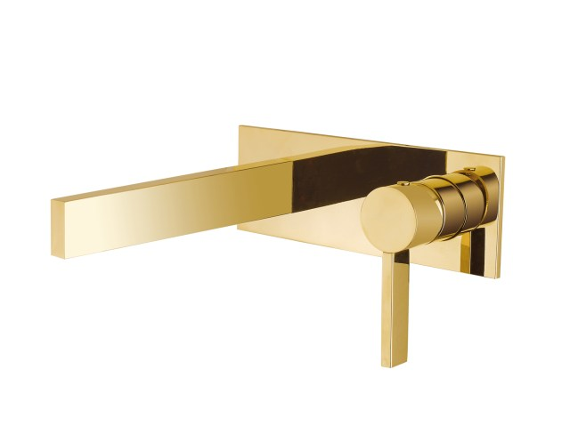 Wall Mount Bathroom Faucet Caso Polished Gold