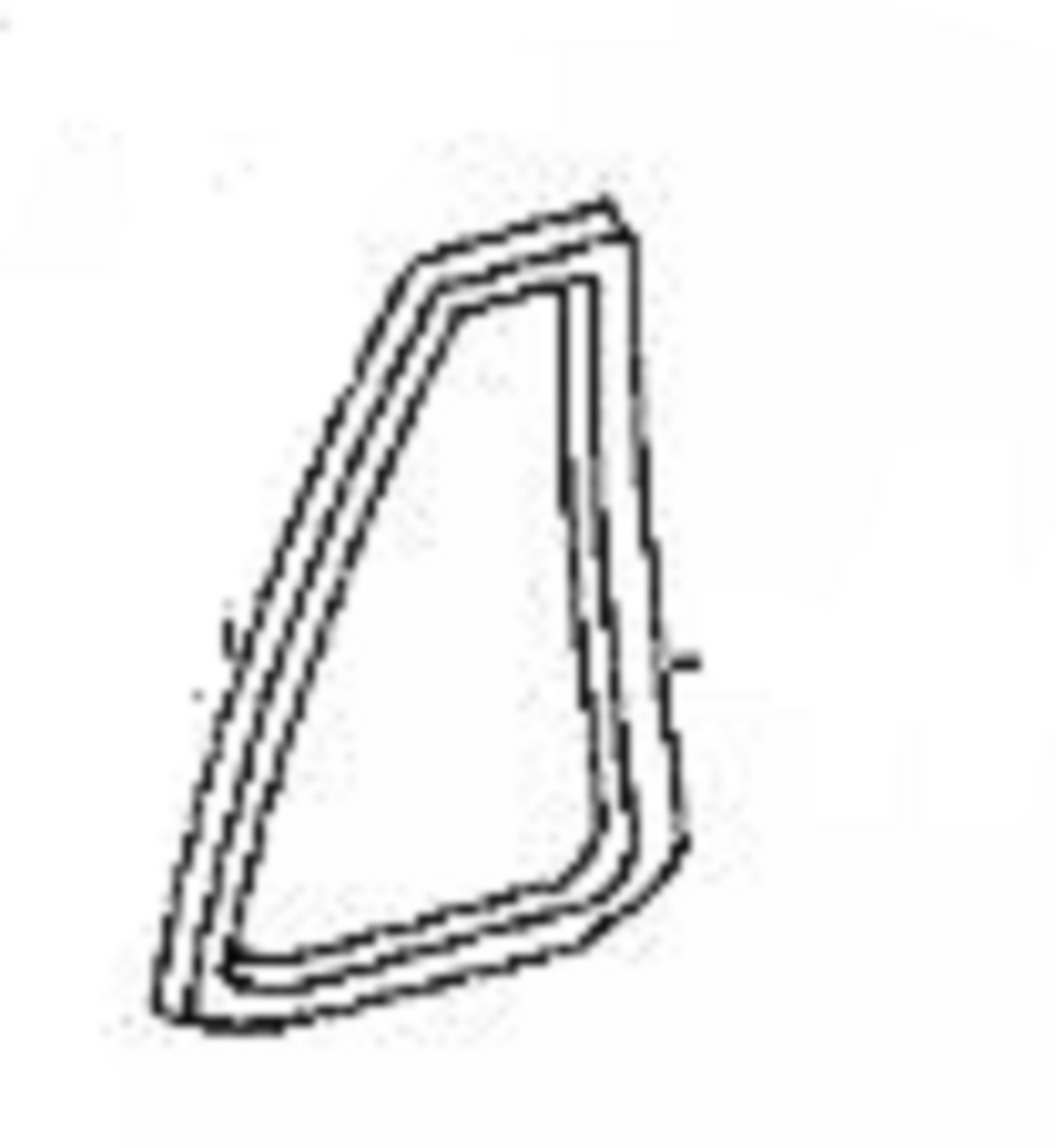 rear vent glass driver side toyota land cruiser 4 door utility