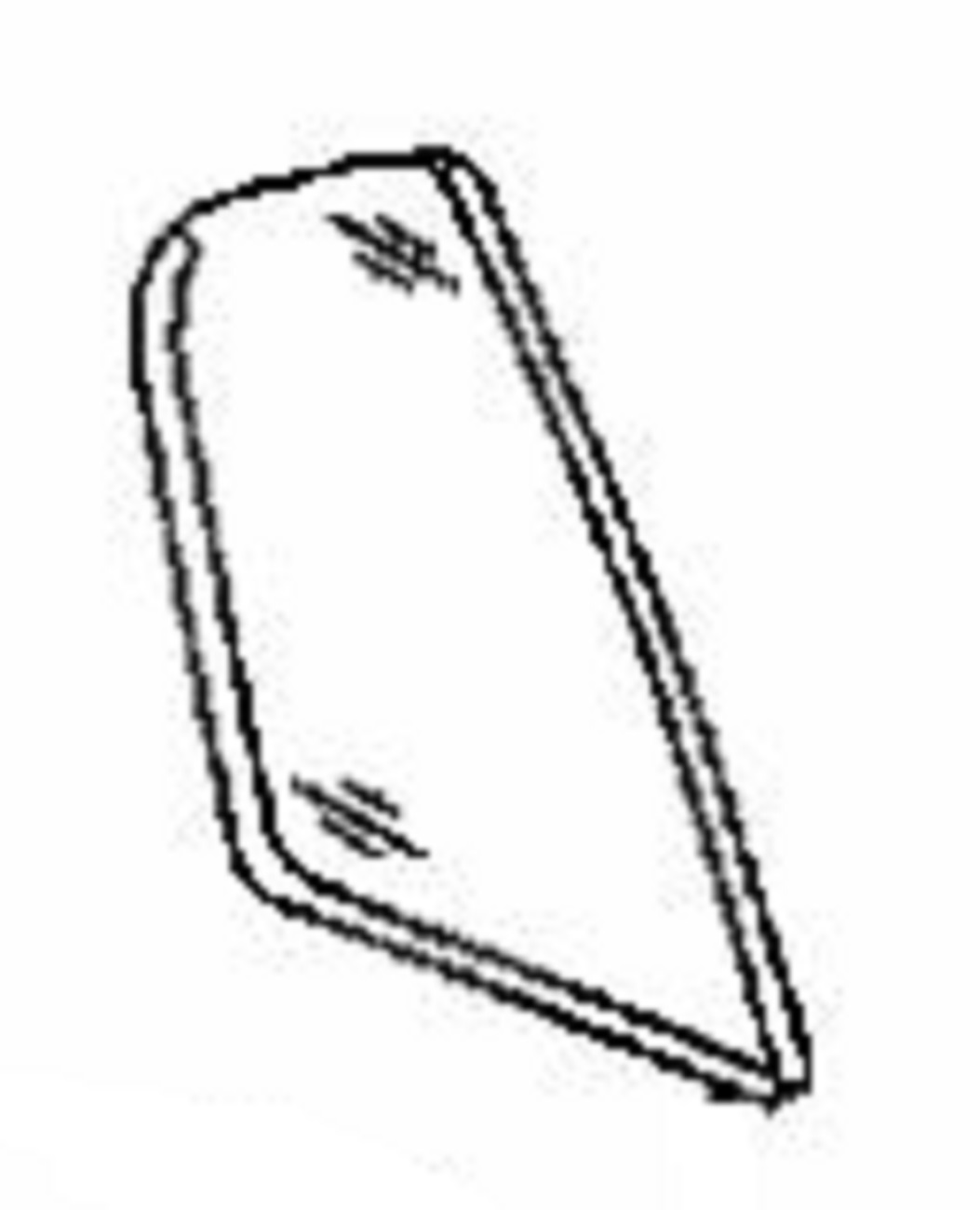 Rear Vent Glass Passenger Side Acura Tl 4 Door Sedan