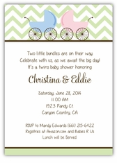 Personalized Themed Twin Baby Shower Invitations Amy S