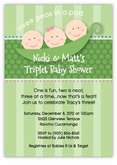 Triplets Baby Shower