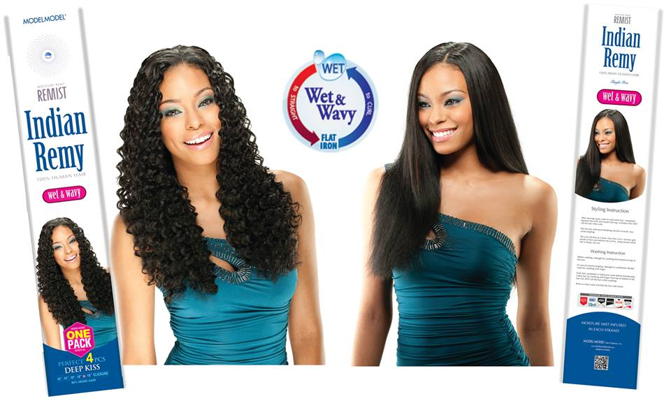 Model Model Remist Indian Remy DEEP KISS 4PCS Wet N Wavy