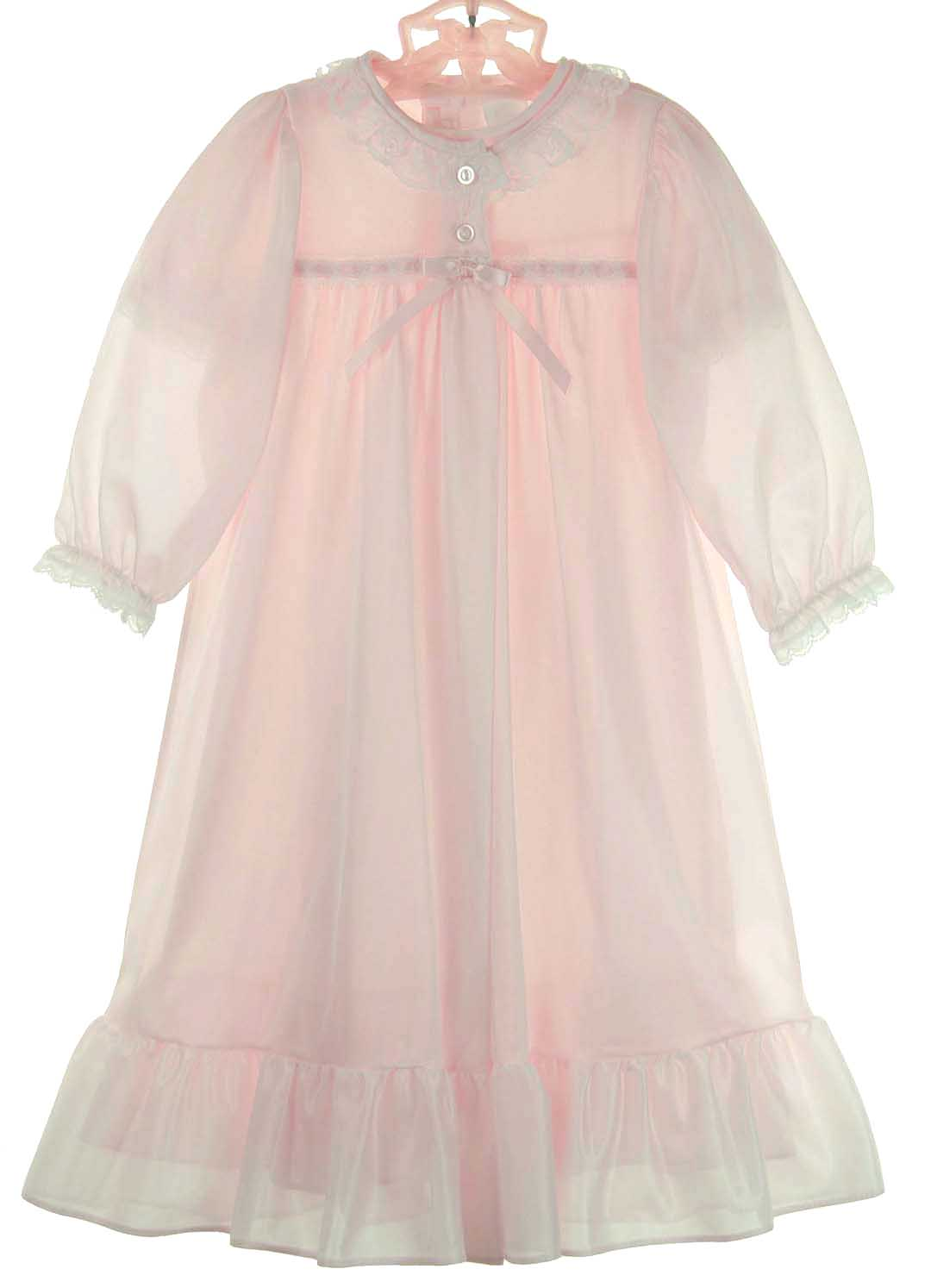 Pink Peignoir Settoddlers Nightgown And Robe Setgirls