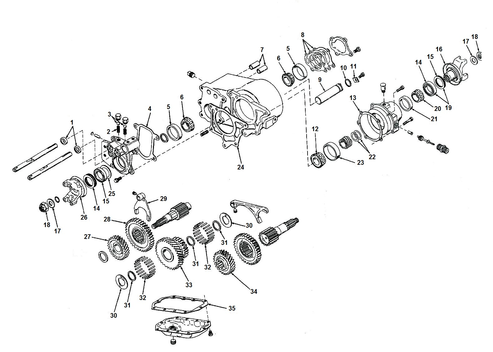 Dana Spicer 20 Transfer Case Parts From Midwest Jeep Willys
