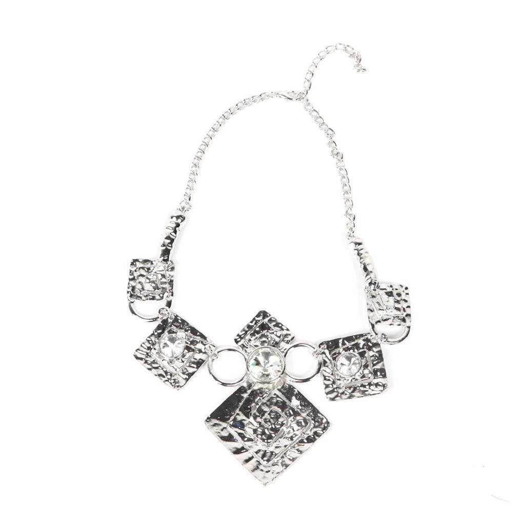 Authentic Rock Season Necklace With Crystals In Silver At
