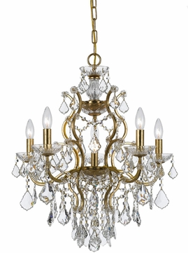 Crystorama 4455 Ga Cl Mwp Filmore Antique Gold Mini Lighting Chandelier