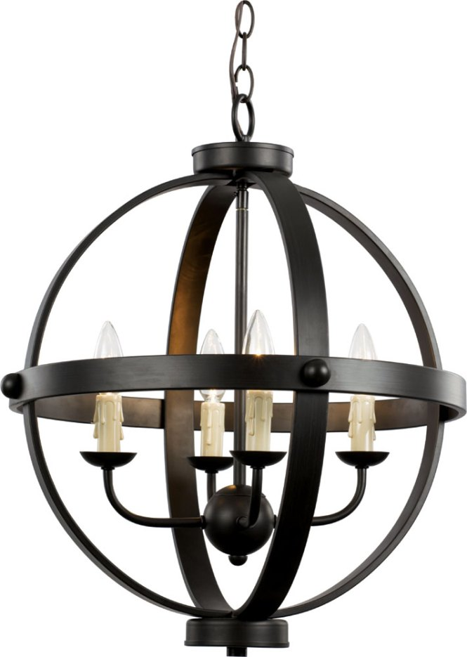 Trans Globe 70594 Rob Sphere Contemporary Rubbed Oil Bronze Mini Hanging Chandelier Loading Zoom
