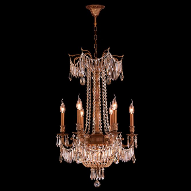 Worldwide W83356fg20 Gt Winchester Crystal French Gold Finish 29 Nbsp Tall Mini Hanging Chandelier Loading Zoom