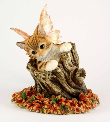 Faerie Glen Bella Fairy Cat Figurine