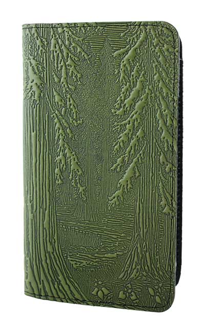 Forest Leather Checkbook Cover By Oberon Design