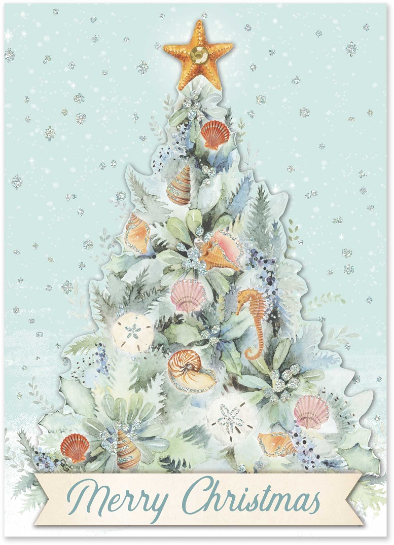 Ocean Tree Christmas Cards Punch Studio Gifts