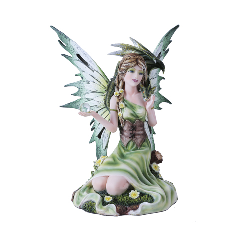 Summer Fairy With Dragon Figurine Faery Gifts