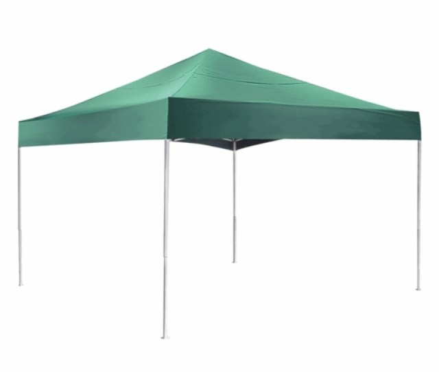 Shelterlogic  Green Pop Up Canopy Tent With Open Ceiling Pro Series